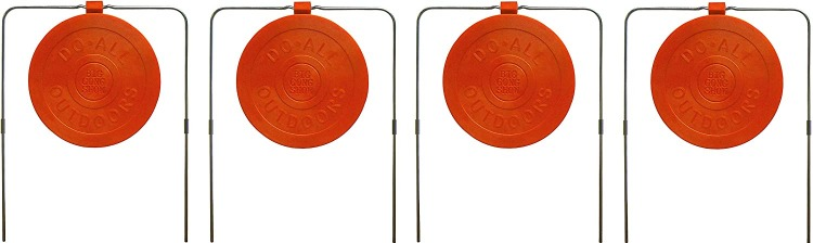 """set of four Do-All Outdoors Big Gong Show 9"""" targets"""
