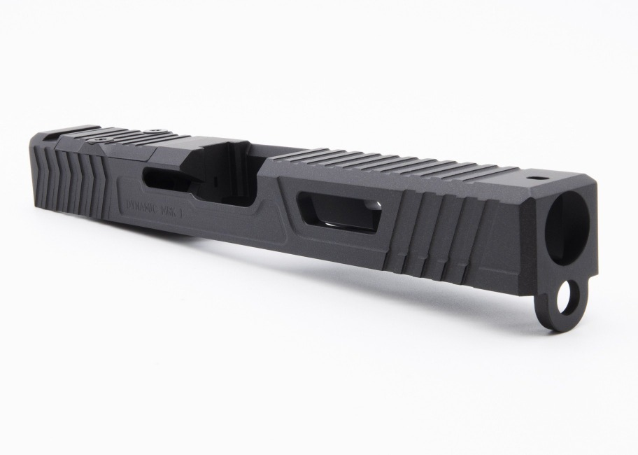 front side view of the dynamic weapon solutions mrk I aggressor glock slide