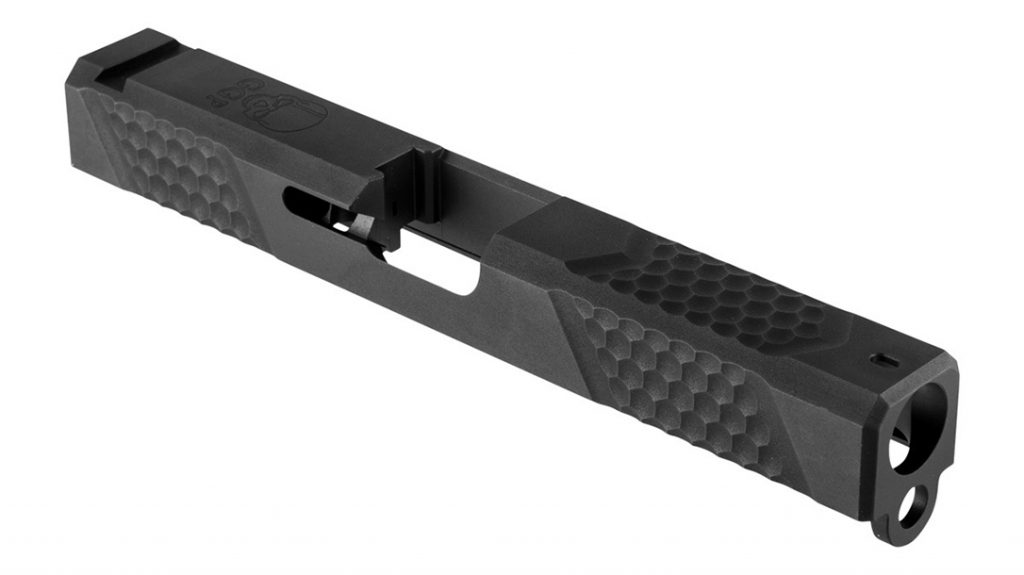 top view of the grey ghost precision glock 17 slide