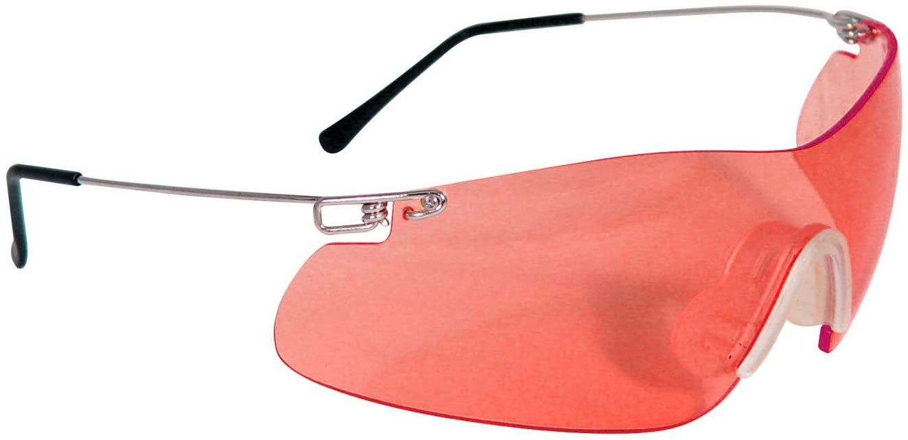 radians clay shooting glasses in red tint