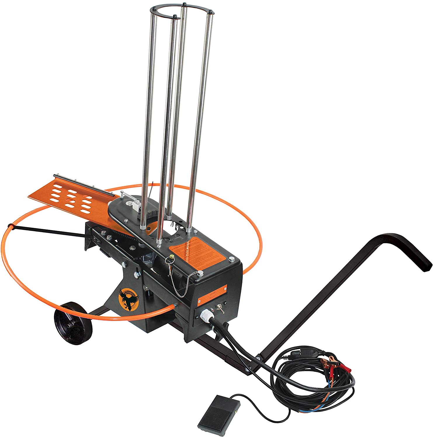 do all outdoors raven auto clay pigeon thrower with wheels and cord